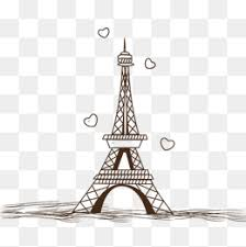 sketch of the paris tower sketch eiffel tower hand painted