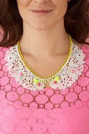 pink collar necklace images How to make an embellished lace collar necklace mollie makes jpg