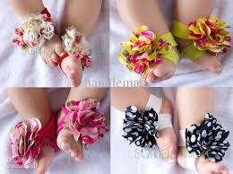 flower accessories baby foot flower children kids accessories suitable for 0 2years