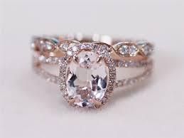 morganite wedding set morganite wedding rings 47 morganite wedding ring set bridal set
