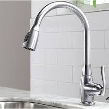 single handle pull kitchen faucet kraus premium faucets single handle pull standard kitchen