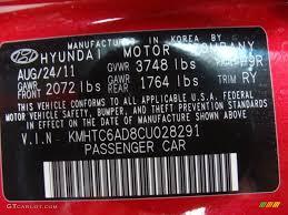 2012 hyundai veloster standard veloster model color code photos