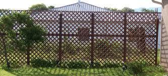 wood lattice wall a privacy wall for lattice fence hometalk