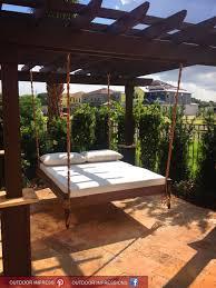 exterior outdoor hammock beds design ideas varnished wood