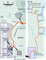 seatac light rail station travel airport rail station opens saturday seattle times newspaper