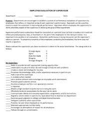 employee evaluation forms templates fillable u0026 printable samples