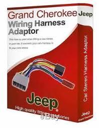 jeep grand wiring harness jeep grand radio stereo wiring harness adapter lead loom