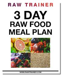 3 day raw food meal challenge raw trainer