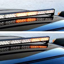 Led Vehicle Light Bar by Hqrp 32 Led Amber Emergency Traffic Advisor Flash Strobe Light Bar