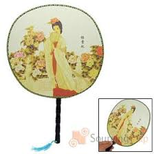 asian fan traditional fabric fan with zhaojun beauty picture