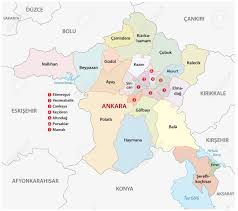 ankara on world map province ankara administrative map royalty free cliparts vectors