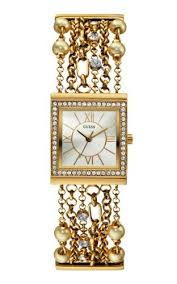 bracelet watches guess images Guess women s u0140l2 pearl embellished gold tone bracelet watch jpg