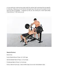 Incline Bench Muscle Group Killer Alpha Male Chest Workout With Powertec Workbench Olympic Bench