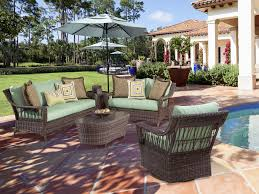 Rattan Patio Dining Set by Exterior Interesting Natural South Sea Rattan For Outdoor Or