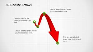 3d decline arrows template for powerpoint slidemodel