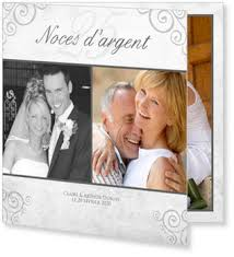 25 ans de mariage carte invitation noces d argent à créer soi même bonnyprints fr