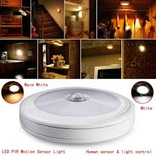 battery powered motion detector light 6 led pir motion sensor light battery powered bulit in magnet