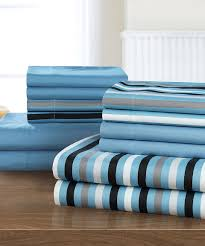 blue stripe reversible sheet set