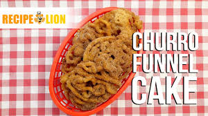 churro funnel cake youtube