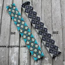 beaded headbands chevron beaded headbands