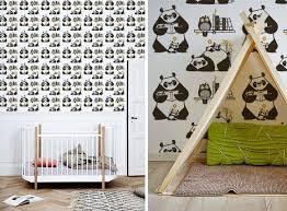 chambre bébé panda nouveaux papier peints enfants dinosaures panda singes