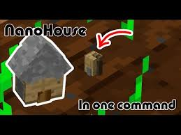 nano house in one command war with theredengineer minecraft project
