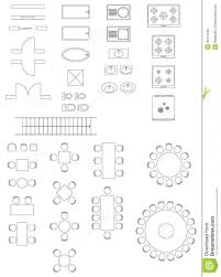 standard symbols used architecture plans icons set vector