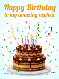 amazing happy birthday candle to my amazing nephew happy birthday card birthday greeting