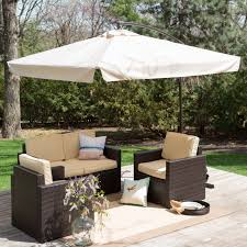 patio furniture gazebo square offset patio umbrella with netting patio outdoor decoration