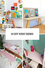 10 diy kids u0027 desks for art craft and studying shelterness