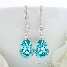 turquoise bridal earrings wedding jewelry bridal jewelry bridesmaid gift light turquoise
