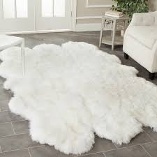 rugs unique fur rugs design ideas with fake sheepskin rug