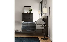 Room And Board Bedroom Furniture Calvin Bed And Dresser In Charcoal Modern Bedroom Furniture