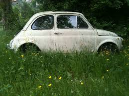 italian surprise an old fiat cinquecento on our nature walk