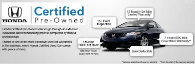 honda certified cars honda certified pre owned information honda of springs