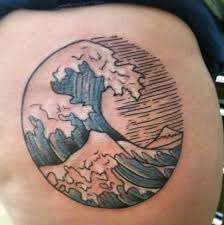wave tattoos for ideas and inspiration for guys