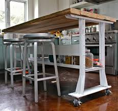 rolling islands for kitchen chic rolling kitchen island with seating tables industrial pipe