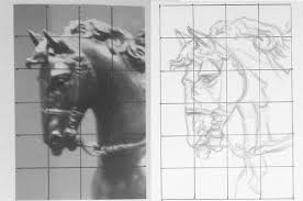 should you use an art projector drawing portraits grid method