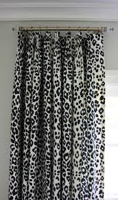 schumacher iconic leopard custom drapes shown in ink comes