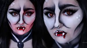 pop art vampire easy halloween costume makeup tutorial