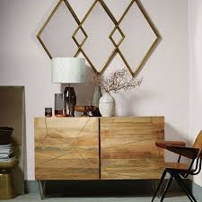West Elm Bedroom Furniture by Roar Rabbit Brass Geo Inlay 6 Drawer Dresser Raw Mango West Elm