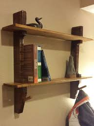 pallet wood shelf coat rack 5 steps with pictures