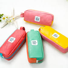 pencil pouch one macaron colorful pencil pouch pu leather korean