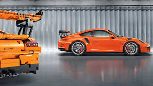 porsche 911 orange a porsche 911 gt3 rs made of 2 704 parts