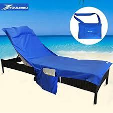 Beach Chaise Lounge Chairs Amazon Com Beach Chair Cover Chaise Lounge Chair Towel For Pool