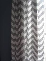 Gray Chevron Curtains Gray U0026 White Chevron Wall Baby U0027s Room And Accent With Baby Blue