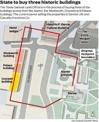state is buying historic buildings facing the alamo san antonio