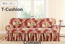 furniture slipcover w ballad bouquet printed design
