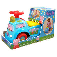 peppa pig lights and sounds ride on walmart