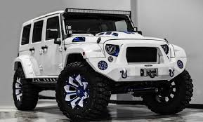 modified white jeep wrangler overkill jeep wrangler stormtrooper leisure wheels